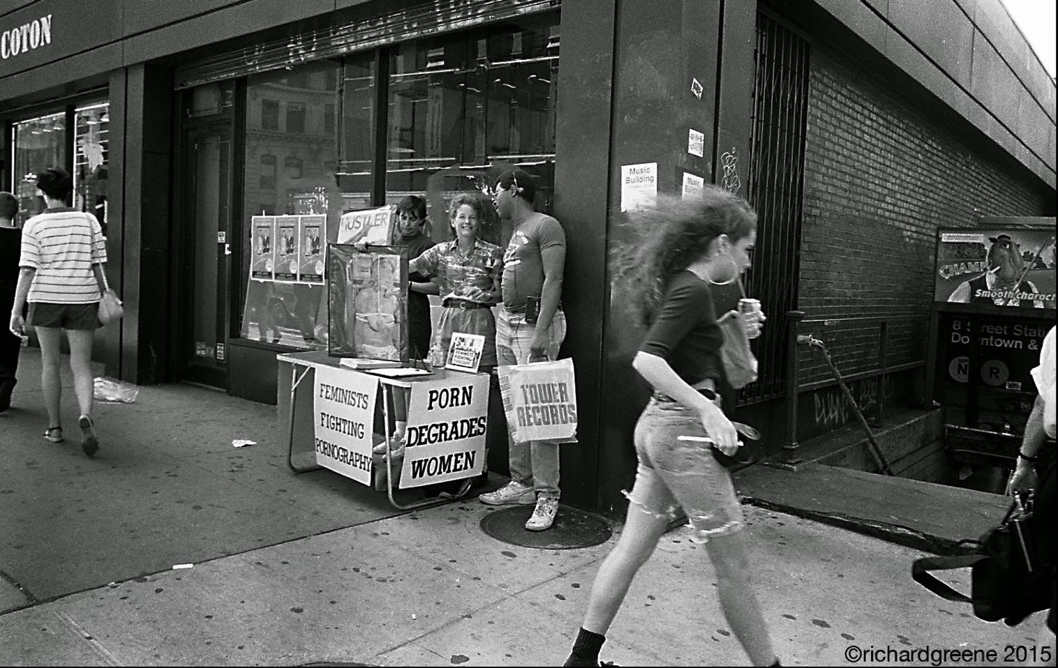 Ativistas feministas anti-pornografia nos anos 1980